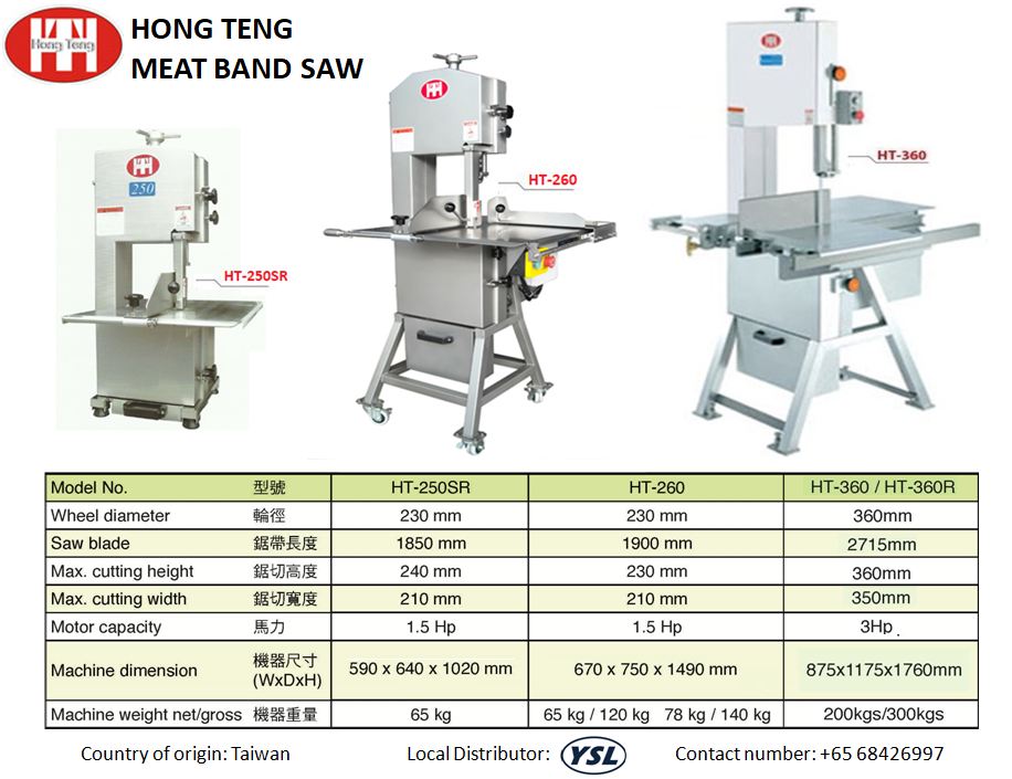 Hong Teng Meat Cutting Band Saw Machine