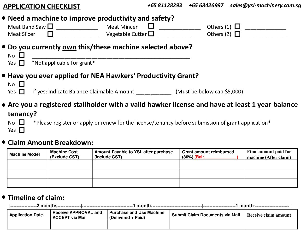 HPG Checklist